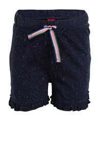s.Oliver gemêleerde sweatshort donkerblauw, Donkerblauw