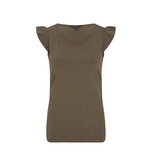 comma T-shirt donkergroen