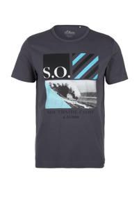 s.Oliver T-shirt met printopdruk antraciet, Antraciet