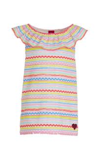 s.Oliver T-shirt met all over print en pailletten roze/geel/blauw, Roze/Geel/Blauw
