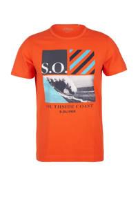 s.Oliver T-shirt met printopdruk oranje, Oranje
