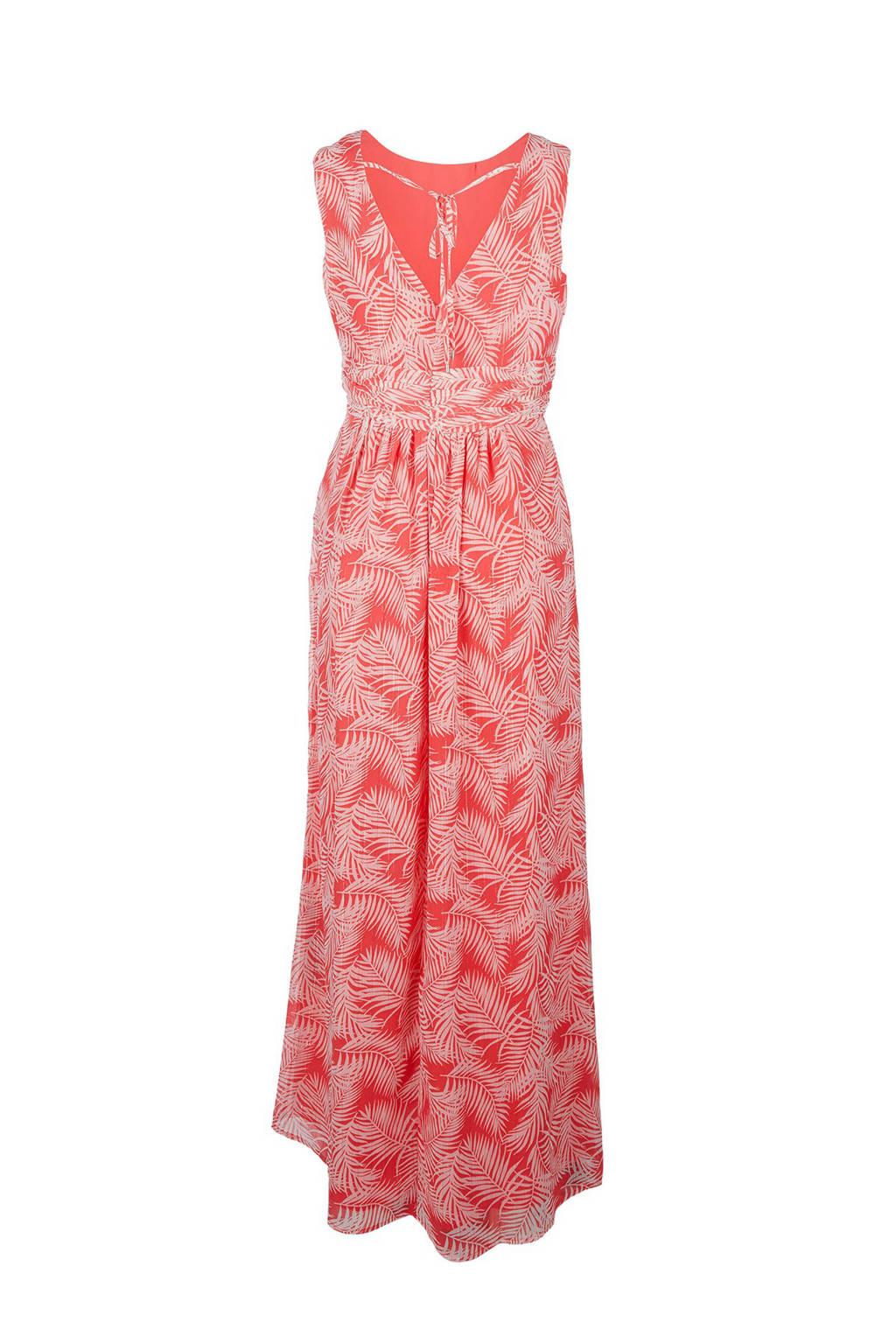 s.Oliver maxi jurk met all over print en glitters roze, Roze