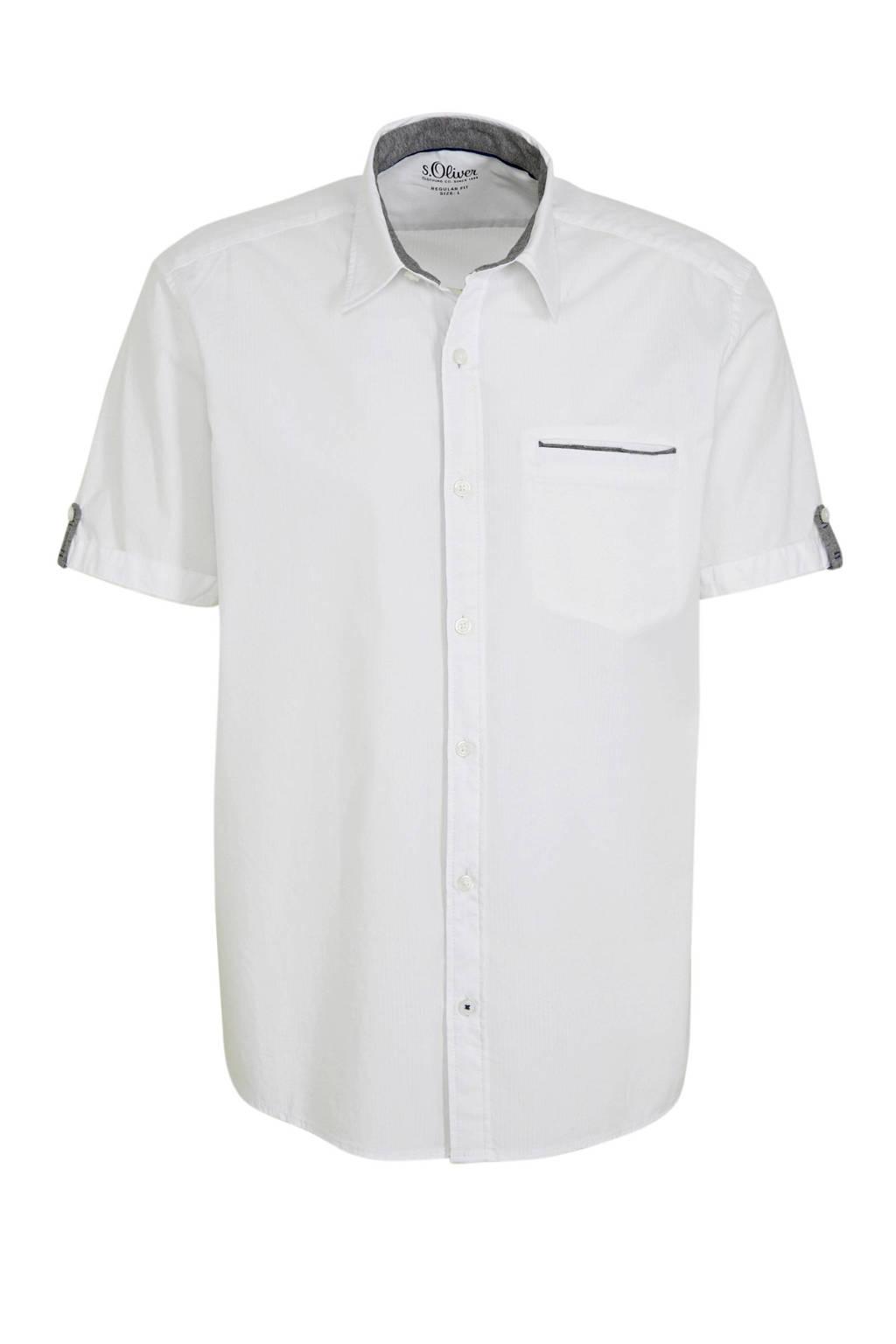 s.Oliver regular fit overhemd wit, Wit