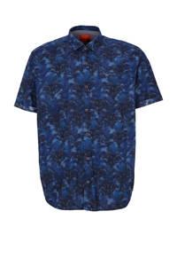 s.Oliver regular fit overhemd met all over print blauw, Blauw