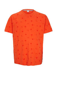 s.Oliver T-shirt met all over print oranje, Oranje