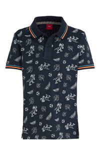 s.Oliver polo met all over print donkerblauw/wit/oranje, Donkerblauw/wit/oranje