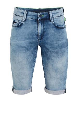 regular fit jeans bermuda light denim