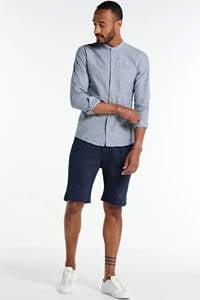 Q/S designed by gestreept regular fit overhemd blauw, Blauw