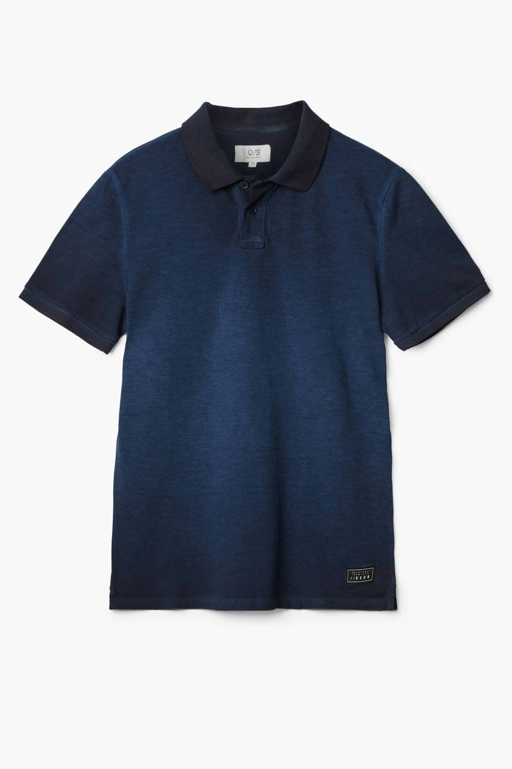 Q/S designed by slim fit polo donkerblauw, Donkerblauw