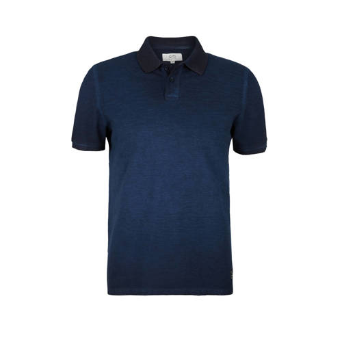 Q/S designed by slim fit polo donkerblauw