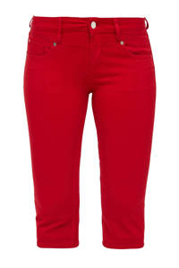 Q/S designed by slim fit capri rood, Rood