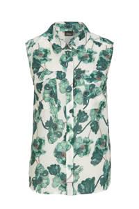 s.Oliver BLACK LABEL blouse met all over print ecru/groen, Ecru/groen