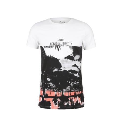 Q/S designed by T-shirt met printopdruk wit
