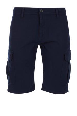 regular fit cargo bermuda blauw