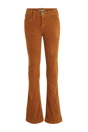corduroy flared broek Fallon roest