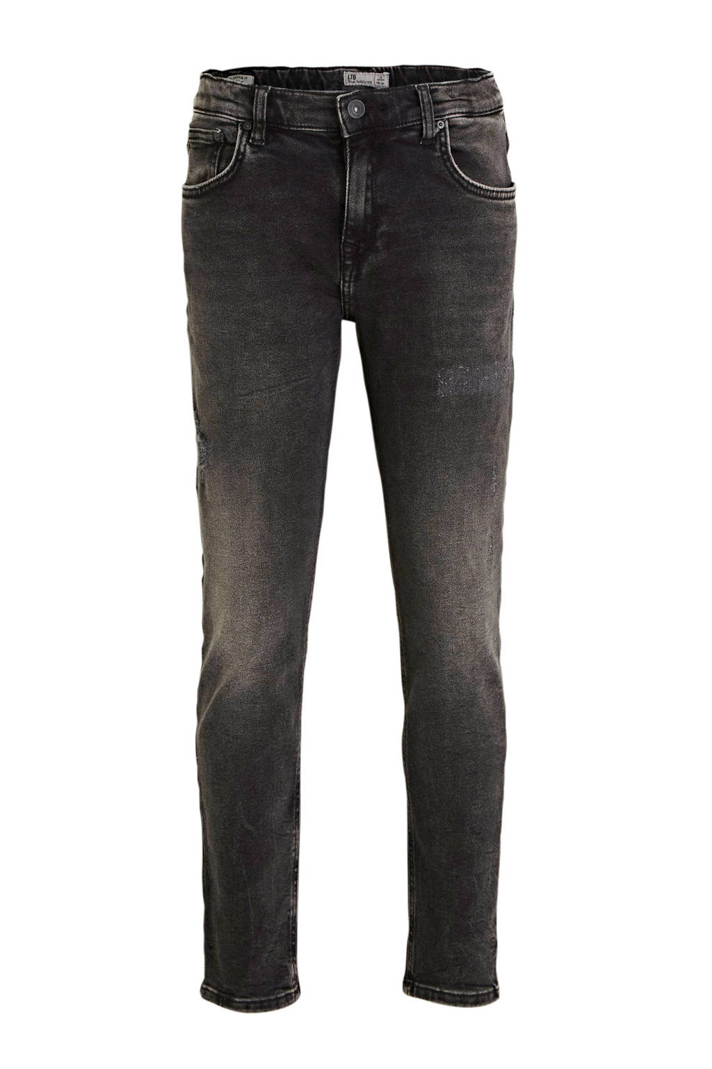 LTB mom jeans Eliana met slijtage grijs stonewashed, Grijs stonewashed
