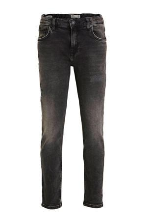 mom jeans Eliana met slijtage grijs stonewashed