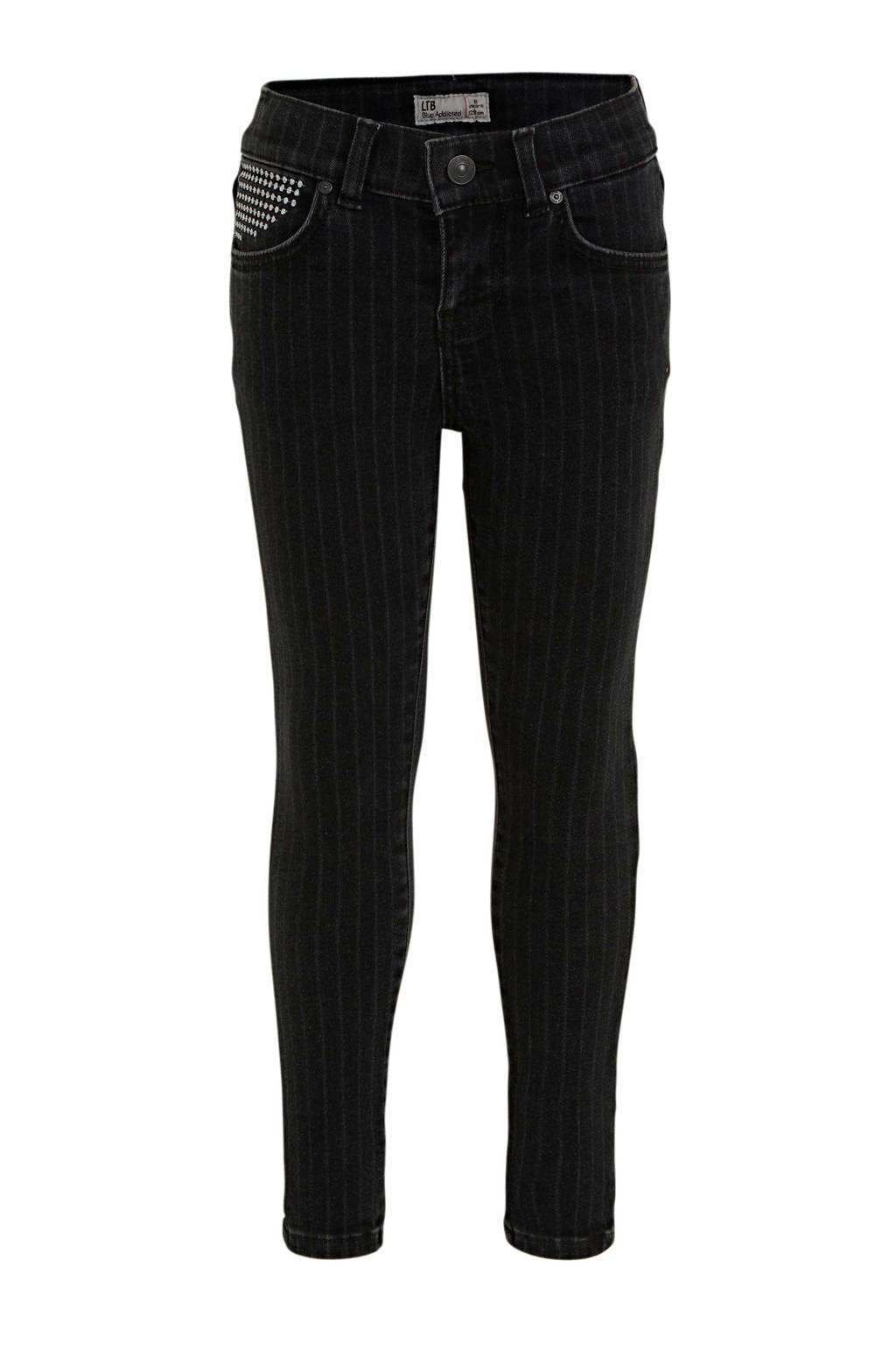 LTB cropped skinny jeans Lonia met krijtstreep night stripe wash, Night Stripe Wash