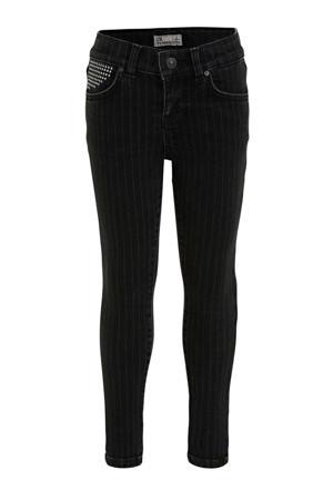 cropped skinny jeans Lonia met krijtstreep night stripe wash