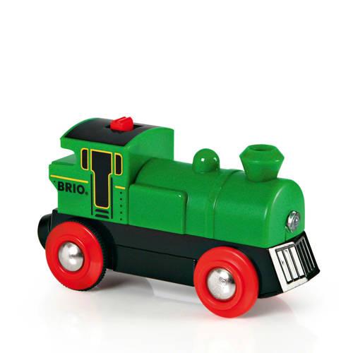 Brio houten Groene locomotief op batterijen - 3359
