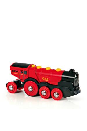 houten Rode locomotief op batterijen - 33592
