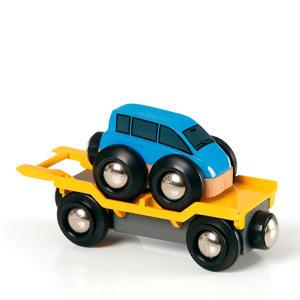 houten Autotransporter met oprijplaat - 33577