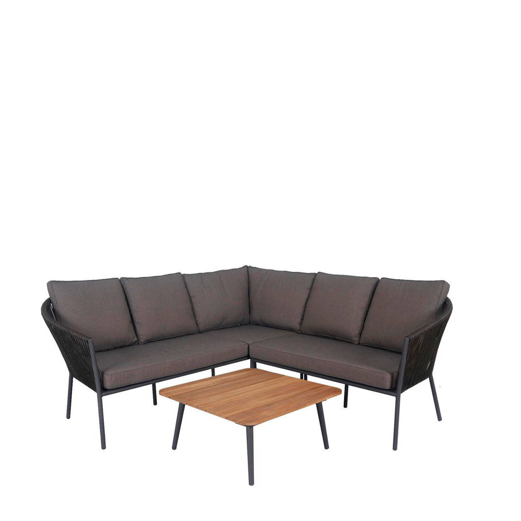 whkmp's own loungeset Tula, Staal/textileen/hout