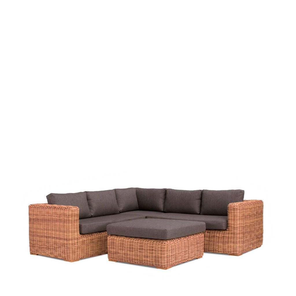 whkmp's own loungeset Olmedo, Rattan mixed natural
