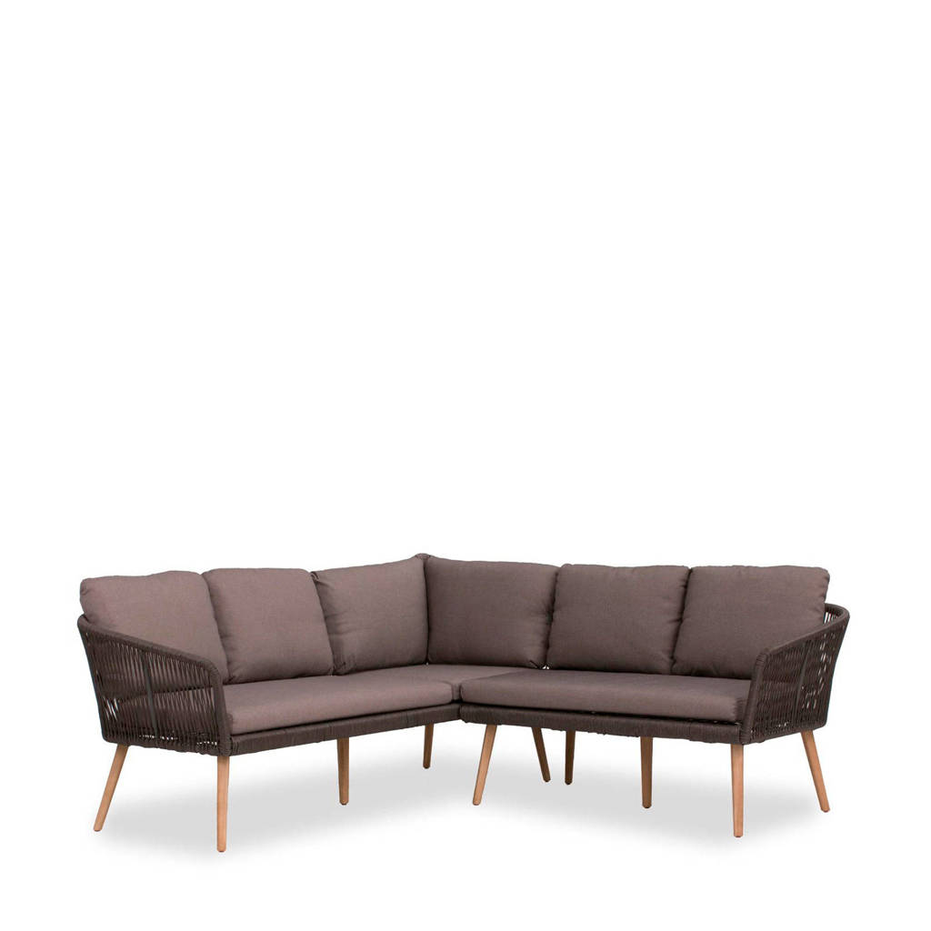 Wehkamp Home loungeset Novella, Staal/Textileen