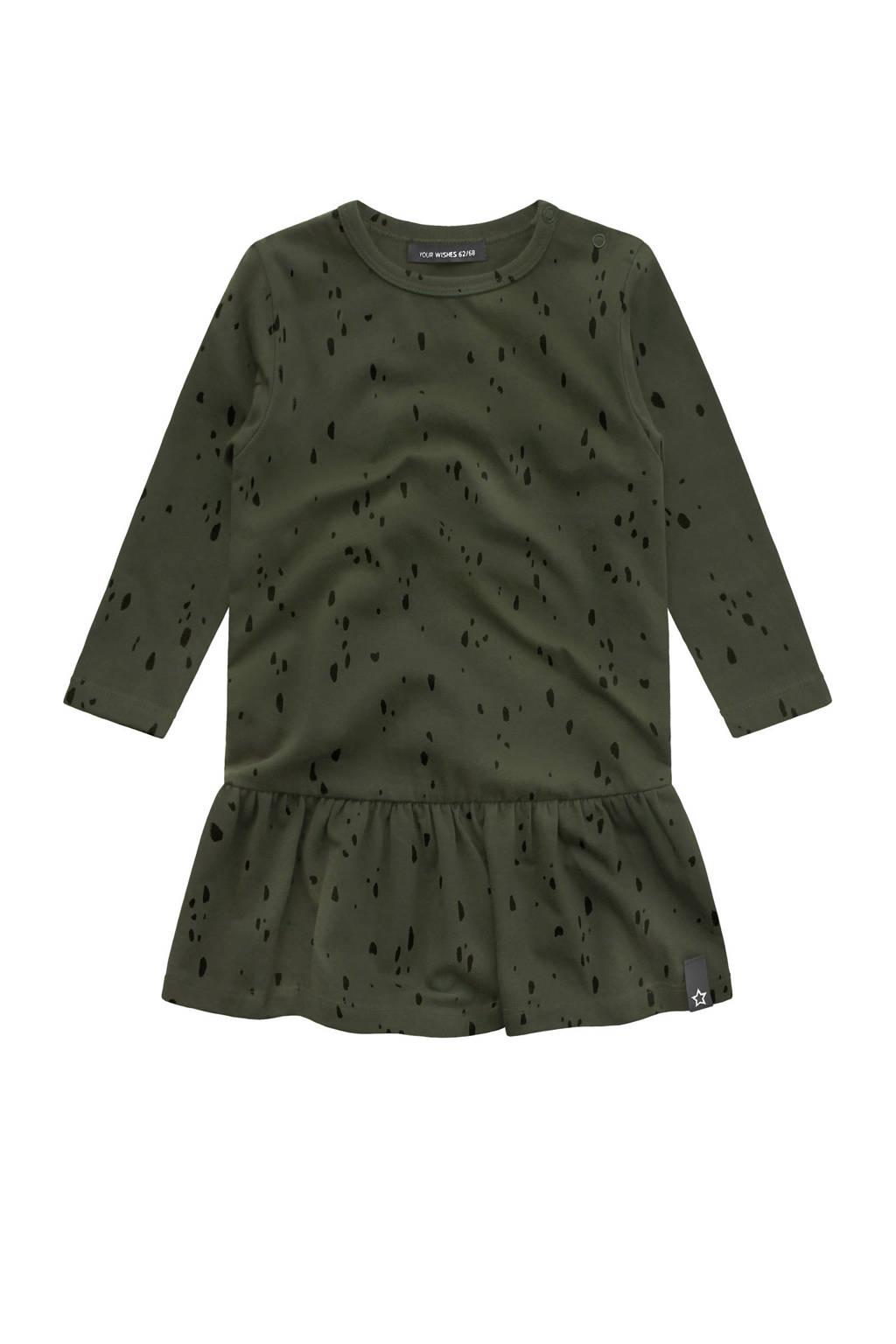 Your Wishes A-lijn jurk met all over print groen, Groen