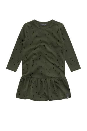 A-lijn jurk met all over print groen