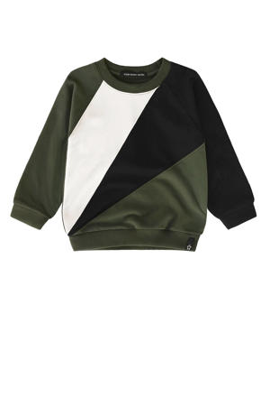 sweater groen/wit/zwart