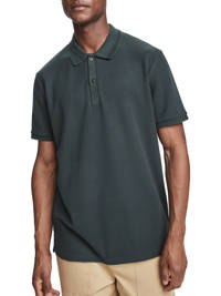 Scotch & Soda regular fit polo donkergroen, Donkergroen
