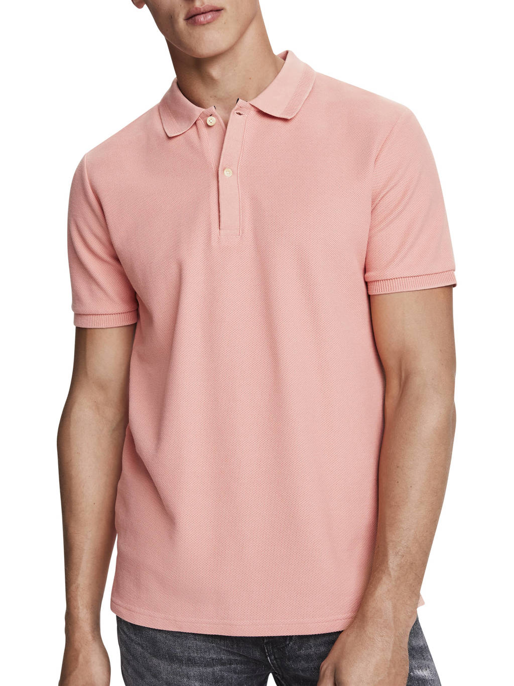 Scotch & Soda regular fit polo lichtroze, Lichtroze