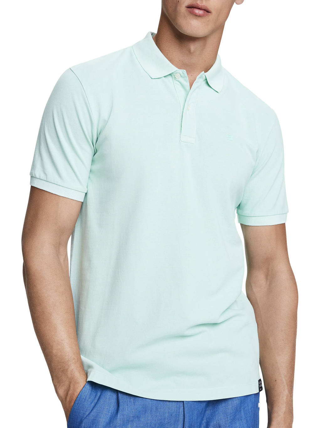 Scotch & Soda regular fit polo mintgroen, Mintgroen