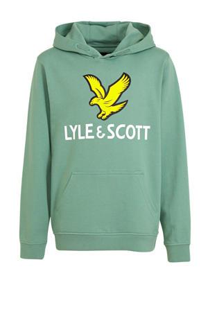 hoodie met logo mintgroen
