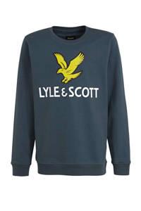 Lyle & Scott sweater met logo blauw, Blauw
