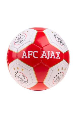 Ajax voetbal groot rood/wit vlakken maat 5