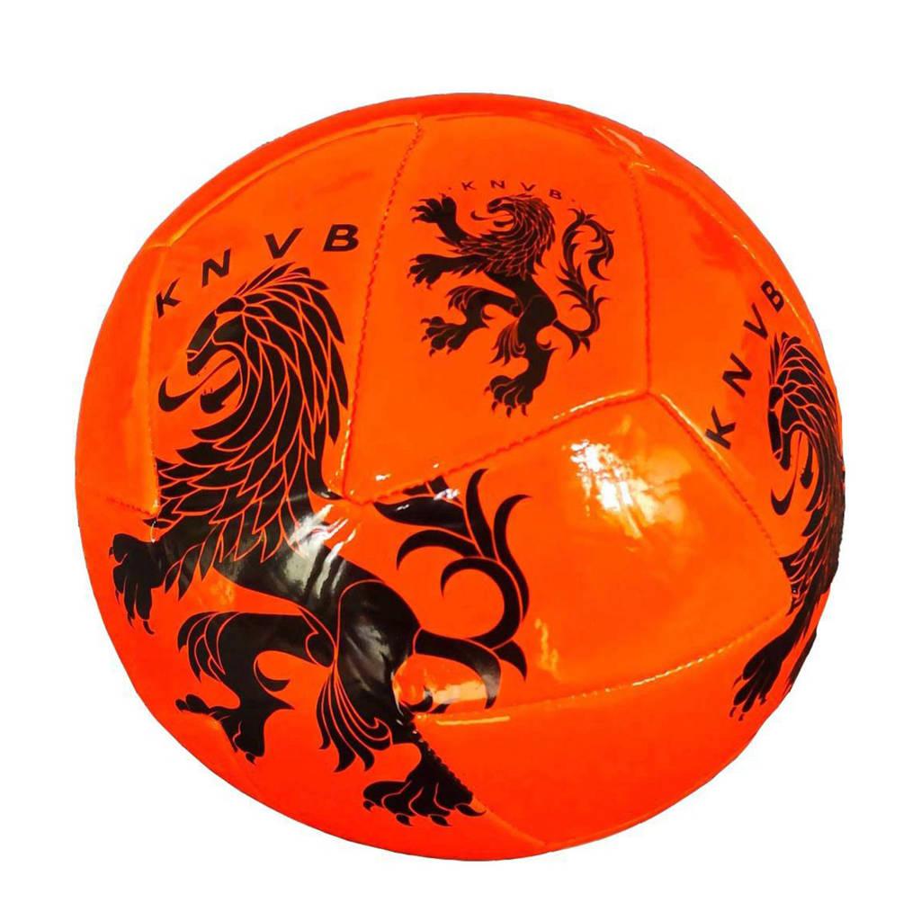 KNVB   Holland voetbal groot KNVB oranje maat 5, Oranje/zwart