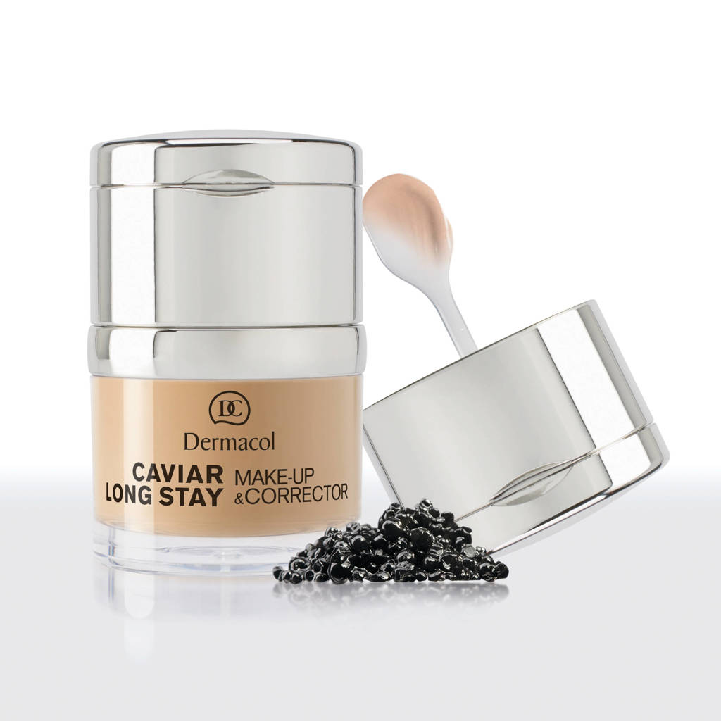 Dermacol Caviar Long Stay foundation en concealer - Ivory no.0.0, Multi