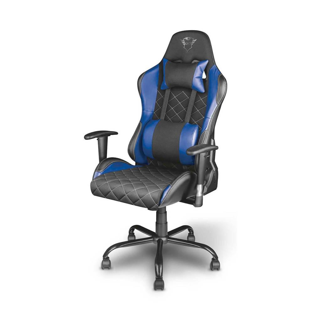 Trust GXT 707 Resto gaming stoel, Zwart, Blauw