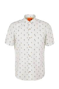 s.Oliver regular fit overhemd met all over print wit, Wit