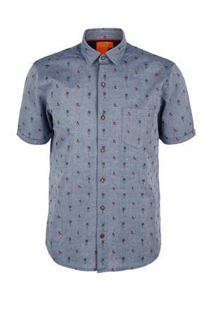 regular fit overhemd met all over print blauw