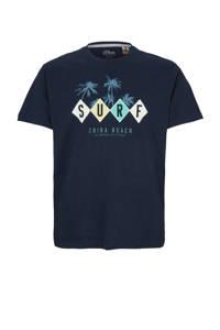 s.Oliver T-shirt met printopdruk donkerblauw, Donkerblauw