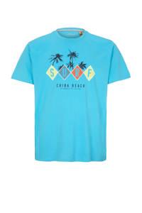 s.Oliver T-shirt met printopdruk turquoise, Turquoise