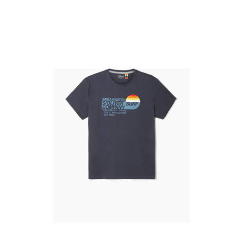 s.Oliver T-shirt met printopdruk antraciet
