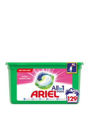 Allin1 Pods Fris Roze wasmiddelcapsules  - 129 wasbeurten