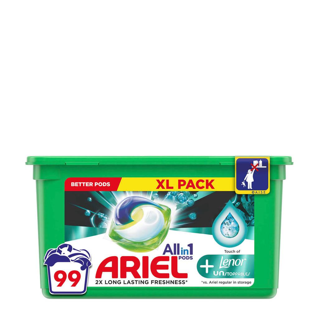 Ariel Allin1 Pods +Unstoppables wasmiddelcapsules  - 99 wasbeurten