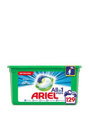 Allin1 Pods Alpine wasmiddelcapsules - 129 wasbeurten