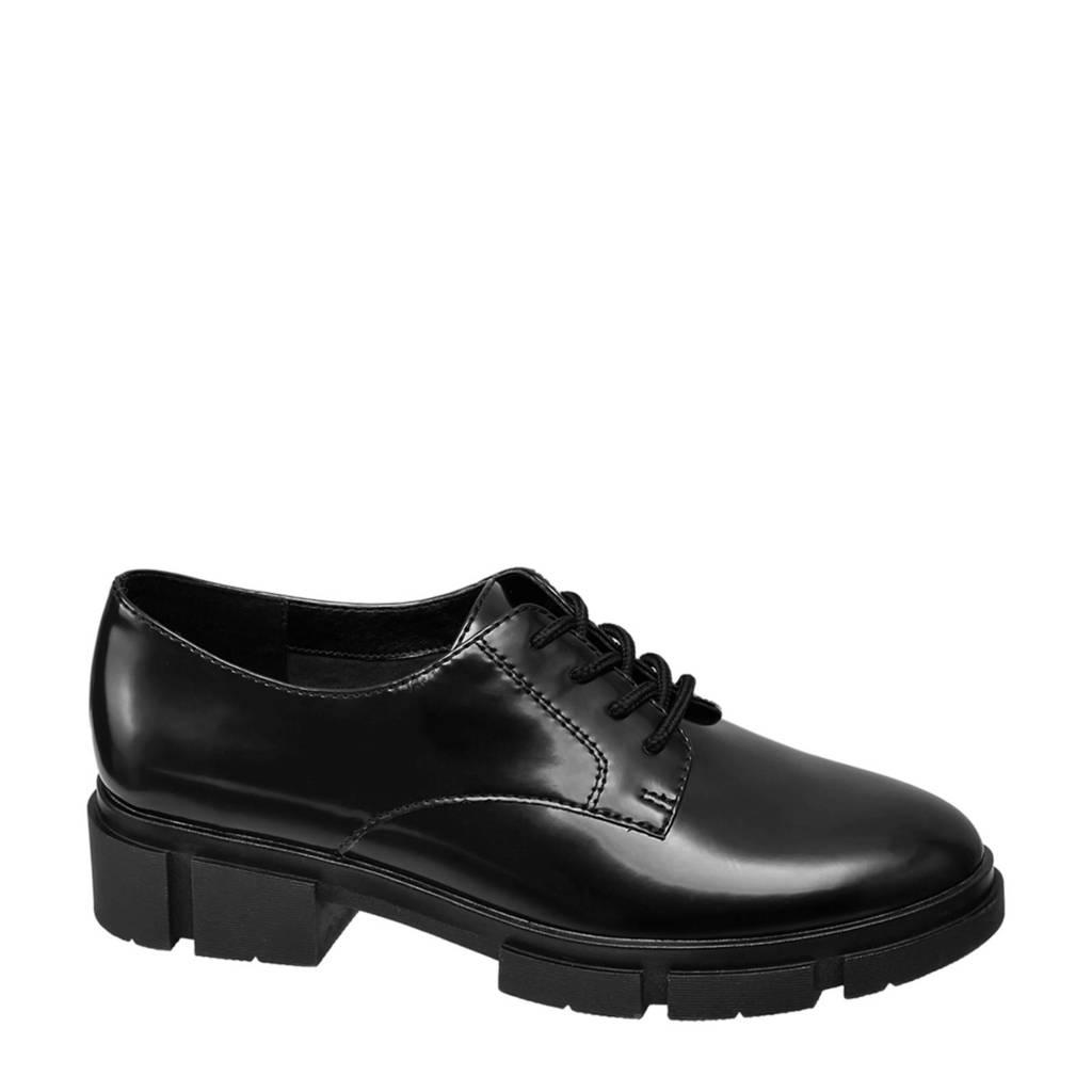Oxmox   veterschoenen zwart, Zwart